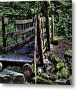Swan Creek Footbridge Metal Print