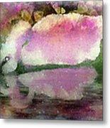 Swan Lake Reflection Metal Print by Jill Balsam