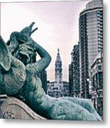 Swann Fountain Statue Metal Print