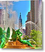 Swann Memorial Fountain - Hdr Metal Print