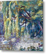 Swans Family . Forest Of Boulogne  Metal Print