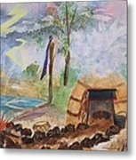Sweat Lodge Metal Print by Ellen Levinson