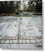 Sweden. Tanum. Petroglyphs Of Tanum Metal Print