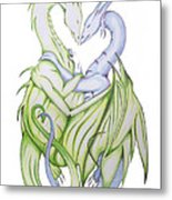 Swedish Love Dragons Metal Print