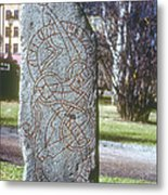 Swedish Runestone Metal Print