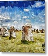 Swedish Standing Stones Metal Print