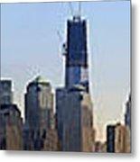 Sweeping Panorama Of New York City Before Sunset Metal Print