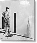 Sweeping The Empire State Bldg Metal Print