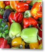 Sweet Bell Peppers Assorted Colors Metal Print