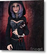 Sweet Betty With Gothic Doll Metal Print