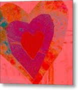 Sweet-candy-heart Metal Print by Dorothy Rafferty