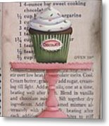 Sweet Chocolate Cupcake Metal Print