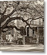 Sweet Home New Orleans 2 Sepia Metal Print
