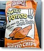 Sweet Potato Chips Metal Print