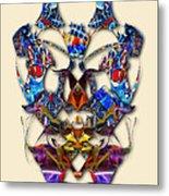 Sweet Symmetry - Flu Bugs Metal Print