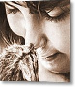 Sweet Touch Metal Print