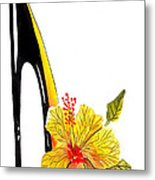 Sweetheart Hibiscus Stiletto Metal Print