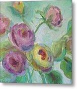 Sweetness Floral Painting Metal Print