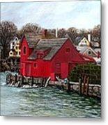 Swells In The Harbor Metal Print