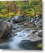 Swift River In Fall White Mountains New Metal Print