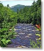 Swift River Mountain View Kancamagus Hwy Nh Metal Print
