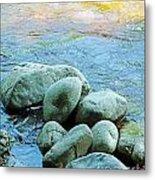 Swift River Rock Kancamagus Highway Nh Metal Print