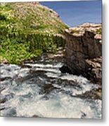 Swiftcurrent River At Many Glacier Metal Print