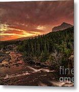 Swiftcurrent River Sunrise Metal Print