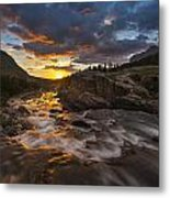 Swiftcurrent Sunrise Metal Print by Joseph Rossbach