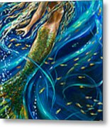 Swimming To The Surface Metal Print