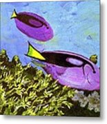 Swimmingly Metal Print