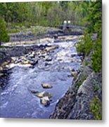 Swing Bridge Over The River Metal Print