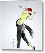 Swing For Hole One Metal Print
