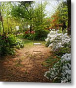 Swing In The Garden Metal Print by Sandy Keeton