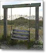 Swing On The Beach Metal Print