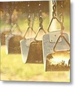 Swing With Nature Metal Print