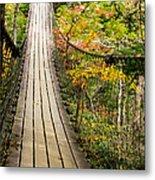 Swinging Bridge Metal Print