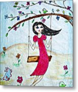 Swinging In A Tree Metal Print by Jo Ann
