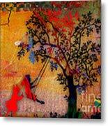 Swinging On A Tree Metal Print