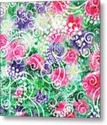 Swirl Dots By Jan Marvin Metal Print
