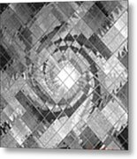 Swirl In A Checkered Mirror V Metal Print