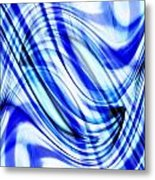 Swirling Abstract Metal Print