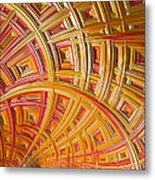 Swirling Rectangles Metal Print