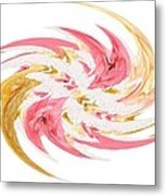Swirling Roses Abstract  Metal Print
