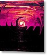 Swirling Sunset In Fuchsia  Metal Print