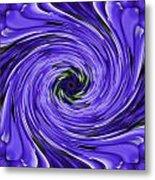 Swirls Of Blue Metal Print