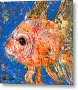 Swishy Fishy Metal Print