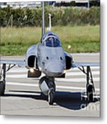 Swiss Air Force F-5e Tiger Recovering Metal Print