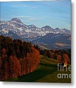 Swiss Alpine Scene Metal Print