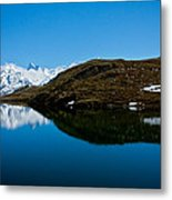 Swiss Alps - Schreckhorn Reflection Metal Print